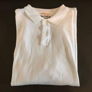 Men's Nautica White Polo - Classic Fit - Size L